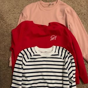 Old Navy and H&M long sleeves